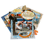 Bo Bunny Press - Paradise Collection - Daily Quote and Photo Display Class Kit - Another Day in Paradise, BRAND NEW