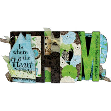 Bo Bunny Press - Abbey Road Collection - Word Album Class Kit - Heart and Home