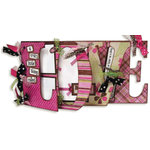 Bo Bunny Press - Smitten Collection - Valentine's Day - Word Album Class Kit - Love