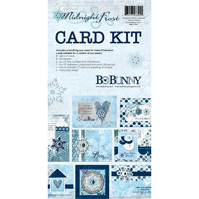 Bo Bunny Press - Midnight Frost Collection - Christmas - Card Kit
