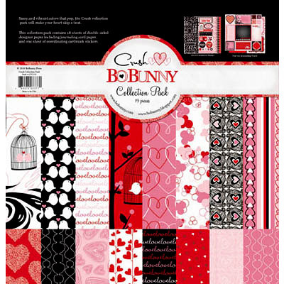 Bo Bunny Press - Crush Collection - Valentine - 12 x 12 Collection Pack, BRAND NEW