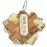 Bo Bunny Press - Et Cetera Collection - Mini Chipboard Album - Puzzle Pieces