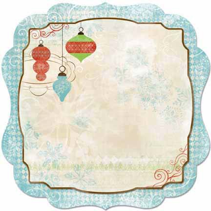 Bo Bunny - Blitzen Collection - Christmas - 12 x 12 Die Cut Paper - Blitzen
