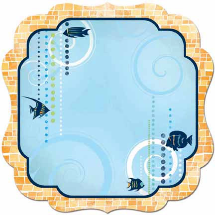 Bo Bunny - Barefoot and Bliss Collection - 12 x 12 Die Cut Paper - Aquarium