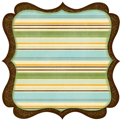 Bo Bunny Press - Flutter Butter Collection - 12 x 12 Die Cut Paper - Flutter Butter Wish