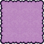 Bo Bunny Press - Jazmyne Collection - 12 x 12 Glittered Die Cut Paper - Jazmyne Amethyst