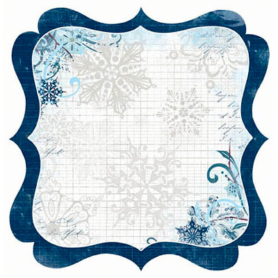 Bo Bunny Press - Midnight Frost Collection - Christmas - 12 x 12 Die Cut Paper - Midnight Frost Snowdrift