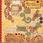 Bo Bunny Press - Bella Journee - Die Cuts - Tuscany Collection - Tuscany, CLEARANCE