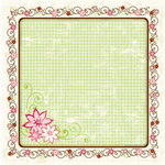 Bo Bunny Press - Vicki B Collection - 12 x 12 Die Cut Paper - Plethora