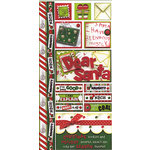 Bo Bunny Press - Holiday Magic Collection - Christmas - Cardstock Stickers - Dear Santa