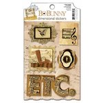 Bo Bunny Press - Et Cetera Collection - 3 Dimensional Stickers with Glitter and Jewel Accents