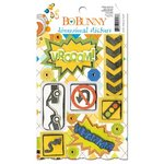 Bo Bunny - On The Go Collection - 3 Dimensional Stickers with Jewel Accents