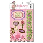 Bo Bunny Press - Smoochable Collection - 3 Dimensional Stickers with Glitter and Jewel Accents