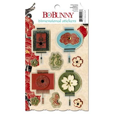 Bo Bunny - Serenity Collection - 3 Dimensional Stickers with Jewel Accents