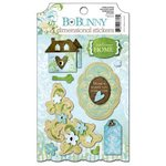 Bo Bunny - Welcome Home Collection - 3 Dimensional Stickers with Glitter and Jewel Accents