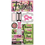 Bo Bunny Press - Teen Chic Collection - Cardstock Stickers - Forever Friends