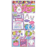 Bo Bunny Press - Cardstock Stickers - The Hunt is On - Easter, CLEARANCE