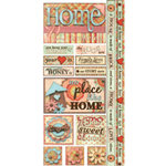 Bo Bunny Press - Vintage Carnival Collection - Cardstock Stickers - Home is Where The Heart Is