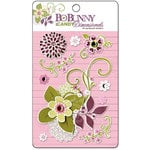 Bo Bunny Press - Jazmyne Collection - I Candy 3 Dimensionals - Cardstock Stickers with Glitter and Jewel Accents, CLEARANCE