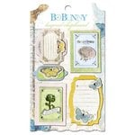 Bo Bunny - Country Garden Collection - Layered Chipboard Stickers with Glitter and Jewel Accents