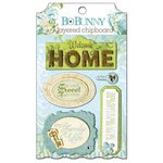 Bo Bunny - Welcome Home Collection - Layered Chipboard Stickers with Glitter and Jewel Accents
