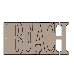 Bo Bunny Press - Album - My Word - Beach - Chipboard - Ocean