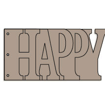 Bo Bunny Press - Album - My Word - Happy - Chipboard - Birthday