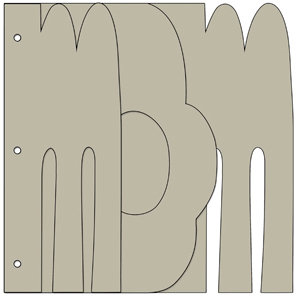 Bo Bunny Press - My Big Fat Word Chipboard Albums - Mom