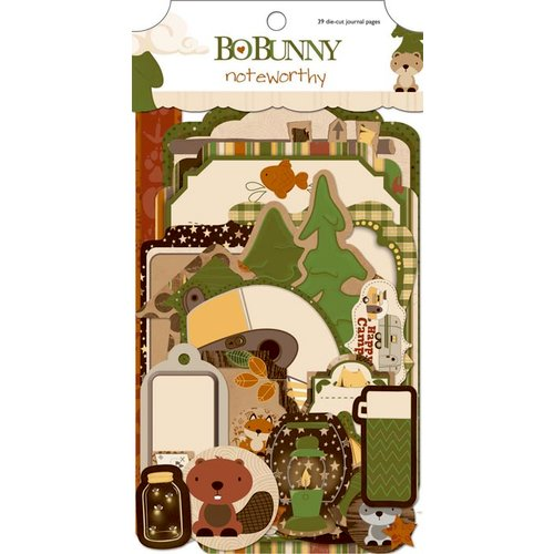 Bo Bunny Press - Camp-A-Lot Collection - Note Worthy Journaling Cards