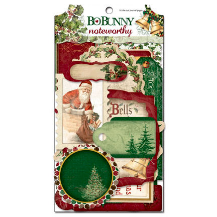 Bo Bunny - Father Christmas Collection - Note Worthy Journaling Cards