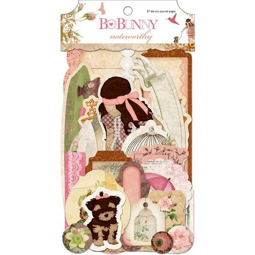 Bo Bunny Press - Little Miss Collection - Note Worthy Journaling Cards