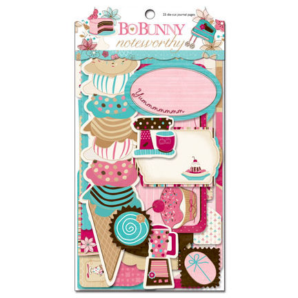 Bo Bunny Press - Sweet Tooth Collection - Note Worthy Journaling Cards
