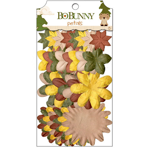Bo Bunny - Camp-A-Lot Collection - Flower Embellishments - Petals