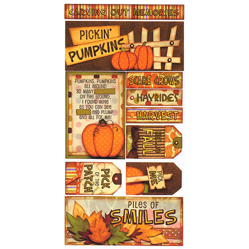 Bo Bunny Press - Fall Festival Collection - Cardstock Stickers - Pickin' Pumpkins, CLEARANCE