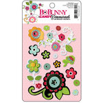 Bo Bunny Press - Petal Pushers Collection - I Candy 3 Dimensionals - Cardstock Stickers with Glitter and Jewel Accents, CLEARANCE