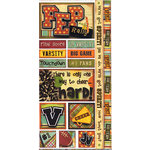 Bo Bunny Press - Pep Rally Collection - Cardstock Stickers - Pep Rally, CLEARANCE