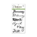 Bo Bunny - Rub Ons - 12 Month Calendar
