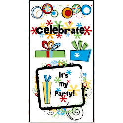 Bo Bunny Press - It's My Party Collection - Rub Ons - Celebrate