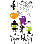 Bo Bunny Press - Boo Crew Collection - Halloween - Rub Ons - 2 Cute 2 Spook