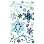 Bo Bunny Press - Midnight Frost Collection - Christmas - Rub Ons - Midnight Frost, BRAND NEW