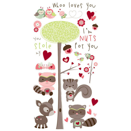 Bo Bunny Press - Love Bandit Collection - Rub Ons - U Stole My Heart