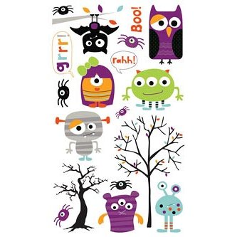 Bo Bunny Press - Whoo-ligans Collection - Halloween - Rub Ons - Whoo-ligans