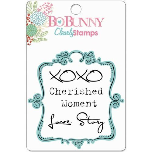 Bo Bunny Press - Persuasion Collection - Clear Acrylic Stamps - Cherished