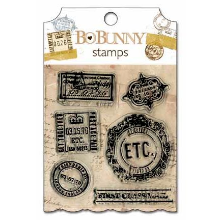 Bo Bunny Press - Et Cetera Collection - Clear Acrylic Stamp
