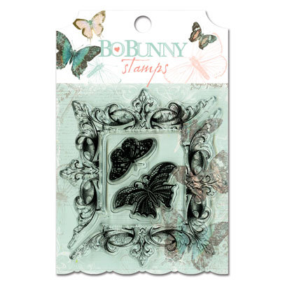 Bo Bunny - Gabrielle Collection - Clear Acrylic Stamp