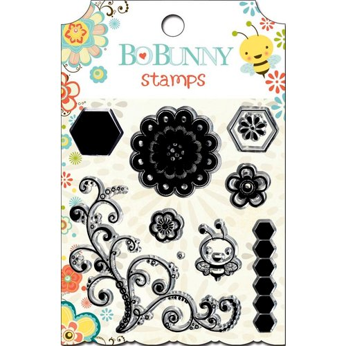 Bo Bunny - Hello Sunshine Collection - Clear Acrylic Stamps