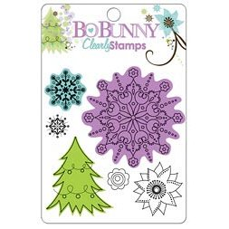 Bo Bunny Press - Winter Joy Collection - Christmas - Clear Acrylic Stamps - Winter Joy