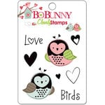 Bo Bunny Press - Love Bandit Collection - Clear Acrylic Stamps - Love Birds, CLEARANCE