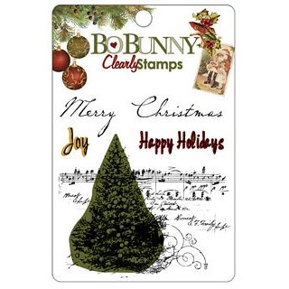 Bo Bunny Press - Noel Collection - Christmas - Clear Acrylic Stamps - Noel