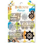 Bo Bunny - On The Go Collection - Clear Acrylic Stamp